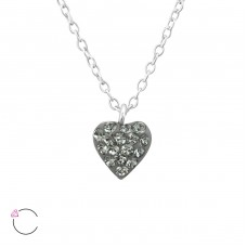 Heart - 925 Sterling Silver Swarovski for kids A4S37644