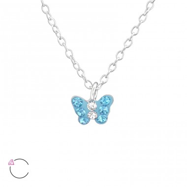 Butterfly - 925 Sterling Silver Necklaces with silver chains A4S37645