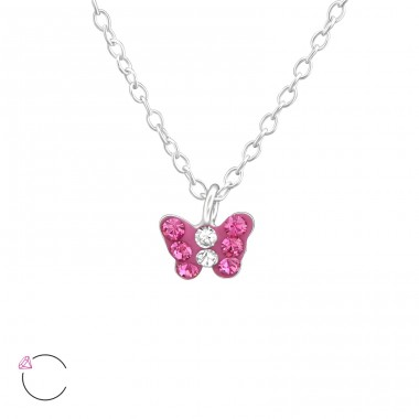 Butterfly - 925 Sterling Silver Necklaces with silver chains A4S37646