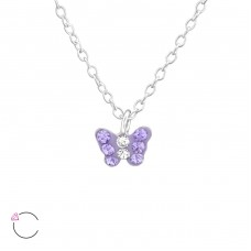 Butterfly - 925 Sterling Silver Necklaces with silver chains A4S37647