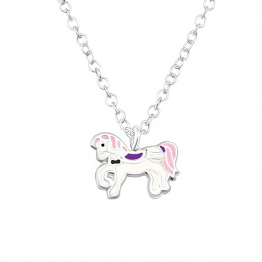 Pony - 925 Sterling Silver Necklaces with silver chains A4S37993