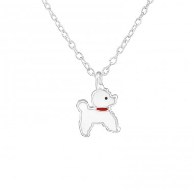 Dog - 925 Sterling Silver Necklaces with silver chains A4S38214