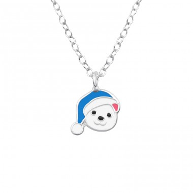 Bear - 925 Sterling Silver Necklaces with silver chains A4S38273
