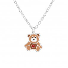 Bear - 925 Sterling Silver Necklaces with silver chains A4S38274