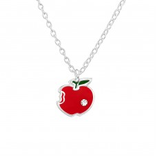 Apple - 925 Sterling Silver Necklaces with silver chains A4S38634