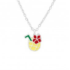 Pineapple Juice - 925 Sterling Silver Necklaces with silver chains A4S38636