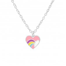 Heart - 925 Sterling Silver Necklaces with silver chains A4S38872