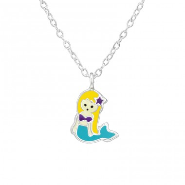 Mermaid - 925 Sterling Silver Necklaces with silver chains A4S39080