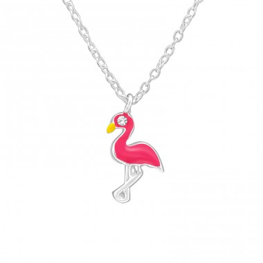 Flamingo - 925 Sterling Silver Necklaces with silver chains A4S39081