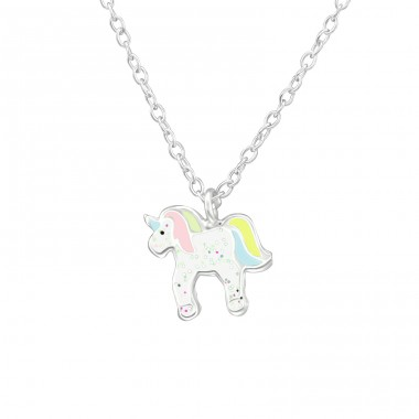 Unicorn - 925 Sterling Silver Necklaces with silver chains A4S39083