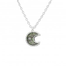 Moon - 925 Sterling Silver Necklaces with silver chains A4S39175