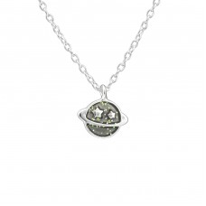 Saturn Planet - 925 Sterling Silver Necklaces with silver chains A4S39179