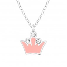 Crown - 925 Sterling Silver Necklaces with silver chains A4S39245