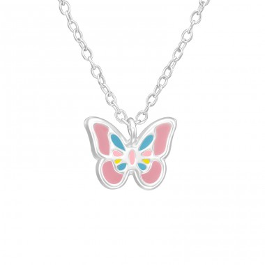 Butterfly - 925 Sterling Silver Necklaces with silver chains A4S39295