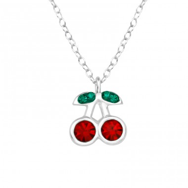 Cherry - 925 Sterling Silver Necklaces with silver chains A4S39446