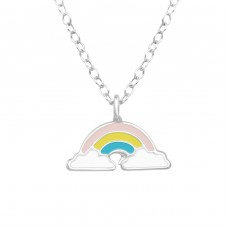 Rainbow - 925 Sterling Silver Necklaces with silver chains A4S39447
