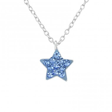 Star - 925 Sterling Silver Necklaces with silver chains A4S39733