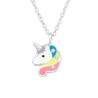 Unicorn - 925 Sterling Silver Necklaces with silver chains A4S40425