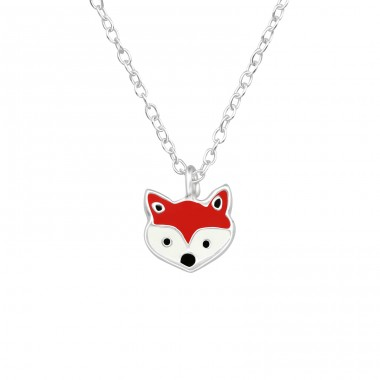 Fox - 925 Sterling Silver Necklaces with silver chains A4S40447
