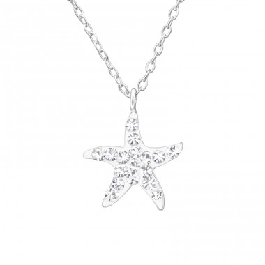Starfish - 925 Sterling Silver Necklaces with silver chains A4S40691