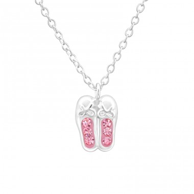 Ballerina Shoes - 925 Sterling Silver Necklaces with silver chains A4S40692