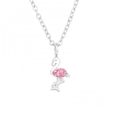 Flamingo - 925 Sterling Silver Necklaces with silver chains A4S41448