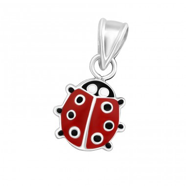 Ladybug - 925 Sterling Silver Pendants for kids A4S10388