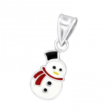 Snowman - 925 Sterling Silver Pendants for kids A4S10687