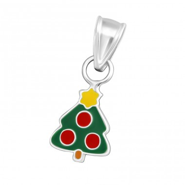 Christmas Tree - 925 Sterling Silver Pendants for kids A4S10688