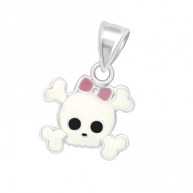 Skull - 925 Sterling Silver Pendants for kids A4S11255