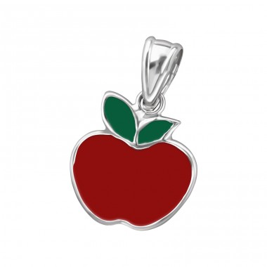 Apple - 925 Sterling Silver Pendants for kids A4S11483