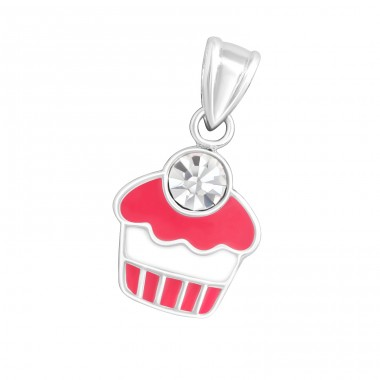 Cupcake - 925 Sterling Silver Pendants for kids A4S11775