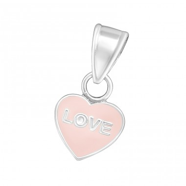 Heart - 925 Sterling Silver Pendants for kids A4S11916