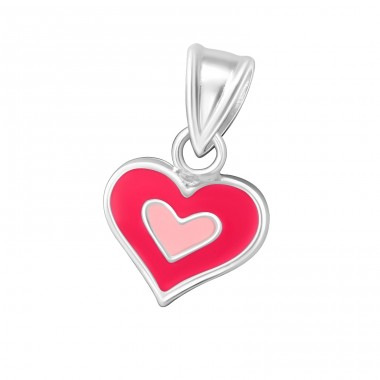 Heart - 925 Sterling Silver Pendants for kids A4S12614