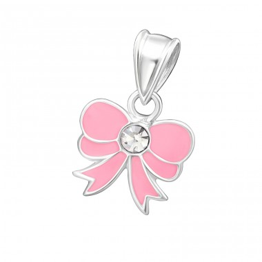 Bow - 925 Sterling Silver Pendants for kids A4S13386