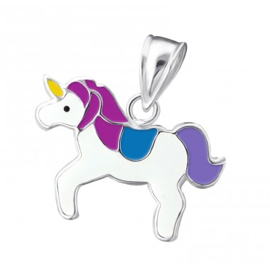 Unicorn - 925 Sterling Silver Pendants for kids A4S13641