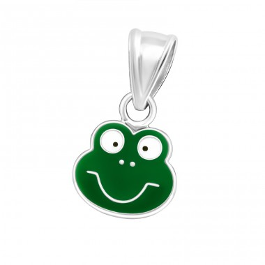 Frog - 925 Sterling Silver Pendants for kids A4S13645