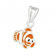 Fish - 925 Sterling Silver Pendants for kids A4S13646