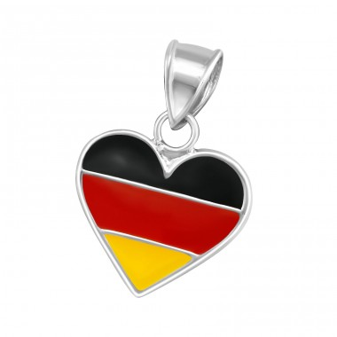 German Flag - 925 Sterling Silver Pendants for kids A4S13774