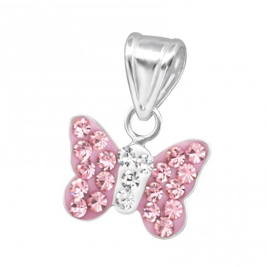 Butterfly - 925 Sterling Silver Pendants for kids A4S13830