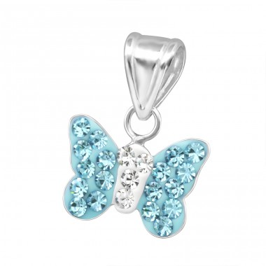 Butterfly - 925 Sterling Silver Pendants for kids A4S13831