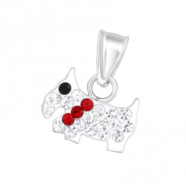Dog - 925 Sterling Silver Pendants for kids A4S13979