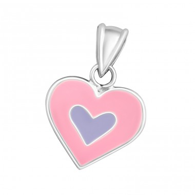 Heart - 925 Sterling Silver Pendants for kids A4S14141