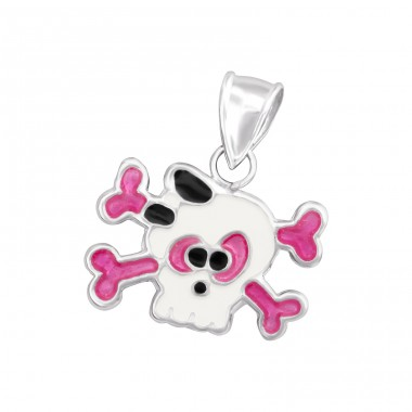 Skull - 925 Sterling Silver Pendants for kids A4S14145