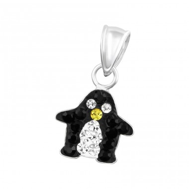 Penguin - 925 Sterling Silver Pendants for kids A4S14393