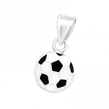 Football - 925 Sterling Silver Pendants for kids A4S15492