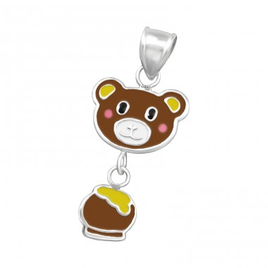 Bear And Honey - 925 Sterling Silver Pendants for kids A4S15495
