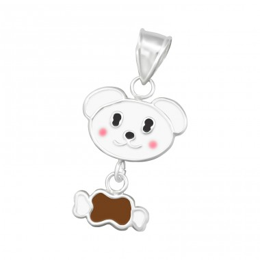 Dog And Bone - 925 Sterling Silver Pendants for kids A4S15496