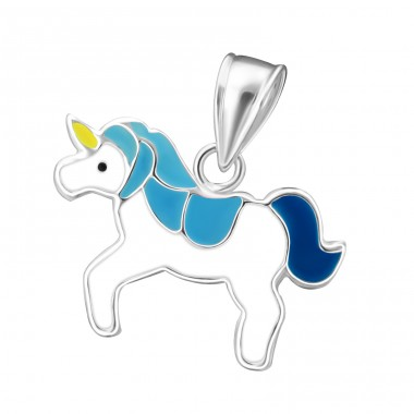 Unicorn - 925 Sterling Silver Pendants for kids A4S17427