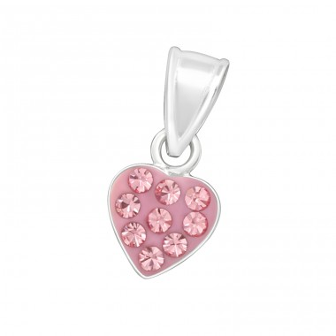 Heart - 925 Sterling Silver Pendants for kids A4S17784